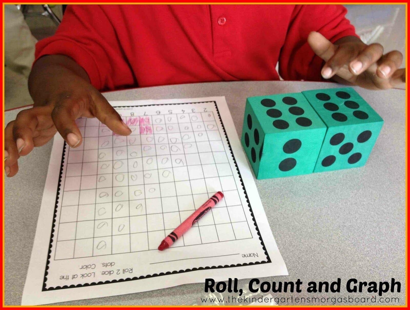 Dice games using dice in the classroom kindergarten