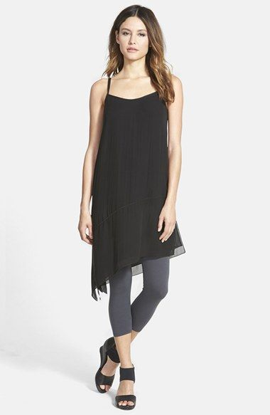 Eileen Fisher Asymmetrical V-Neck Silk Tunic available at #Nordstrom