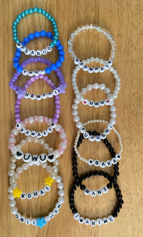 Anime bracelets kawaii bracelet kawaii anime jewelry