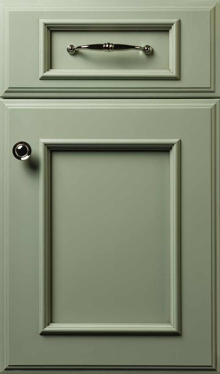 "Kent 3"" door style done in Maple with a Green Tea finish # ..."