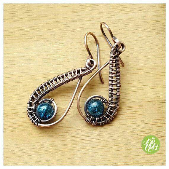 Cobre y cristales | Jewelry Making | Pinterest | Drahtschmuck, Diy ...