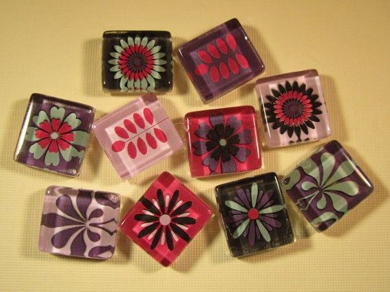 10 Refrigerator Magnets Set of 10 Fridge Magnets by DLRjewelry, $16.00