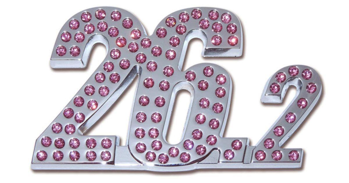262 marathon pink crystal chrome emblem pink crystal