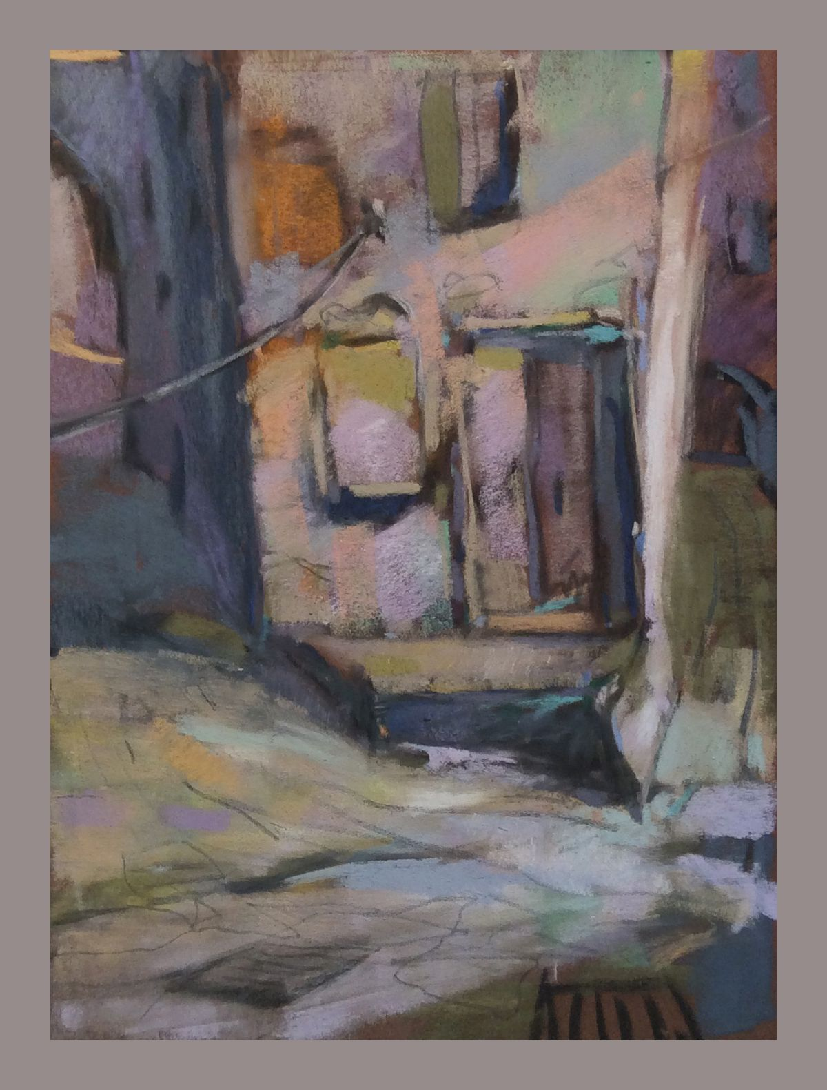 "Go to the Doorway at the Prow and Ask for the Water. 2015. Pastel. 12"" x 9."" Casey Klahn."