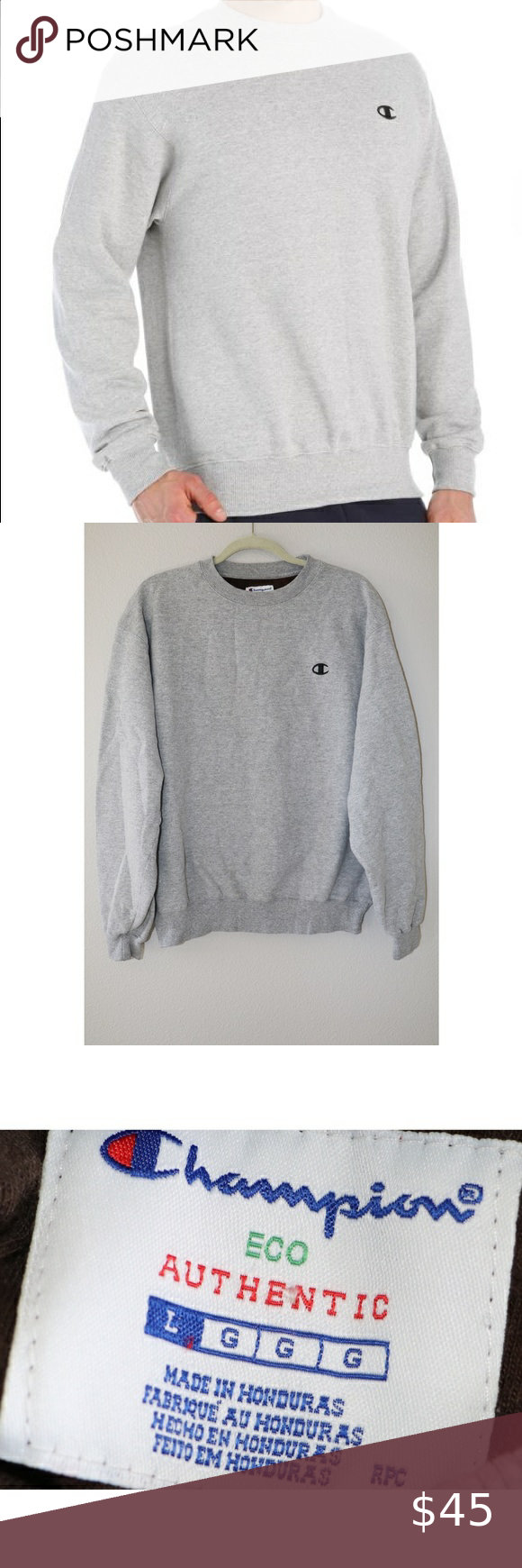 Like New Vintage Champion Crewneck Sweater Champion Crewneck Vintage Champion Grey Champion Sweatshirt [ 1740 x 580 Pixel ]
