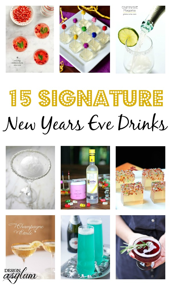 15 Signature New Years Eve Drinks! - Design Asylum Blog | by Kellie Smith