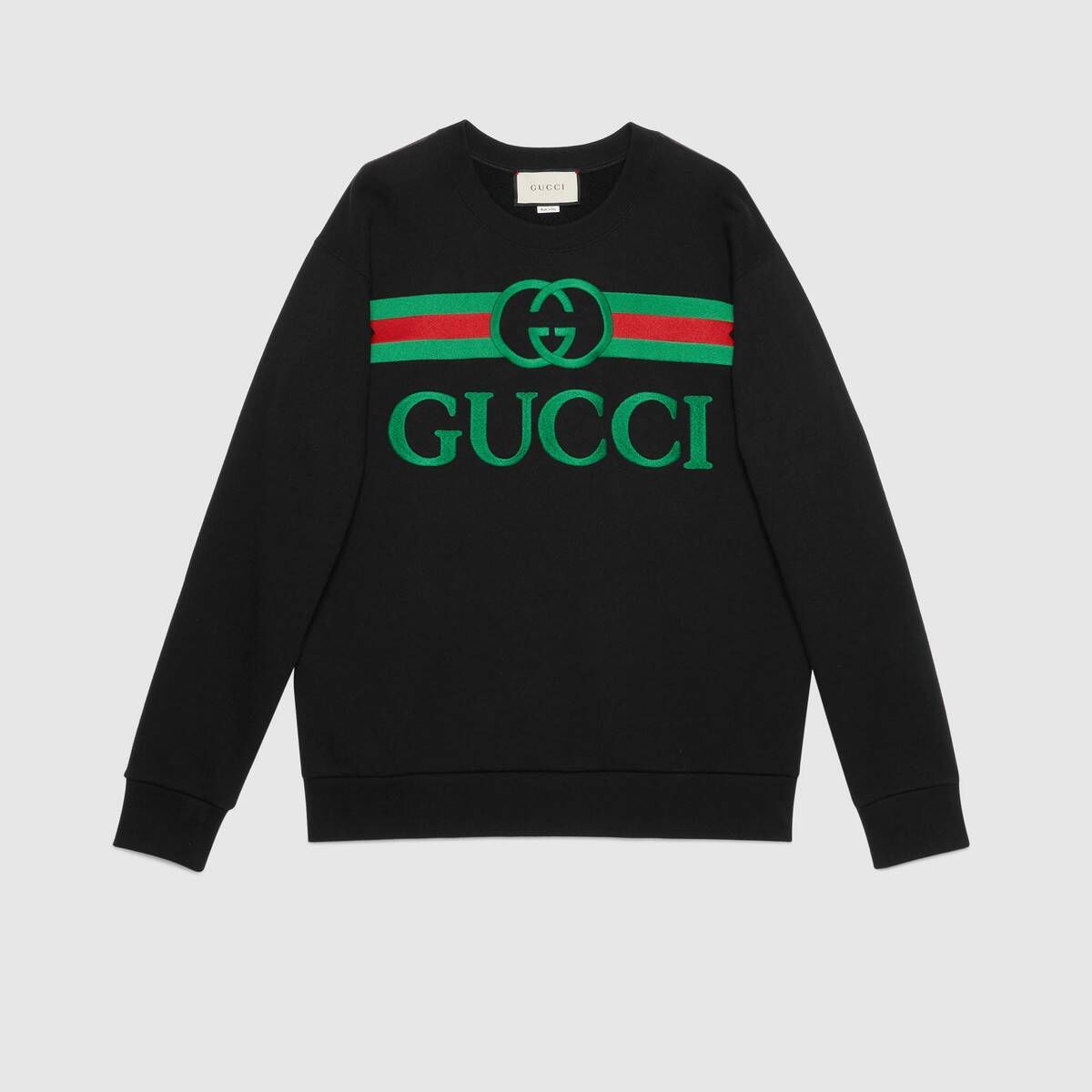 Shop The Black Cotton Oversize Sweatshirt With Gucci Logo At Gucci Com Enjoy Free Shipping And Complimentar Sweatshirts Oversized Sweatshirt Sweatshirts Women [ 1200 x 1200 Pixel ]