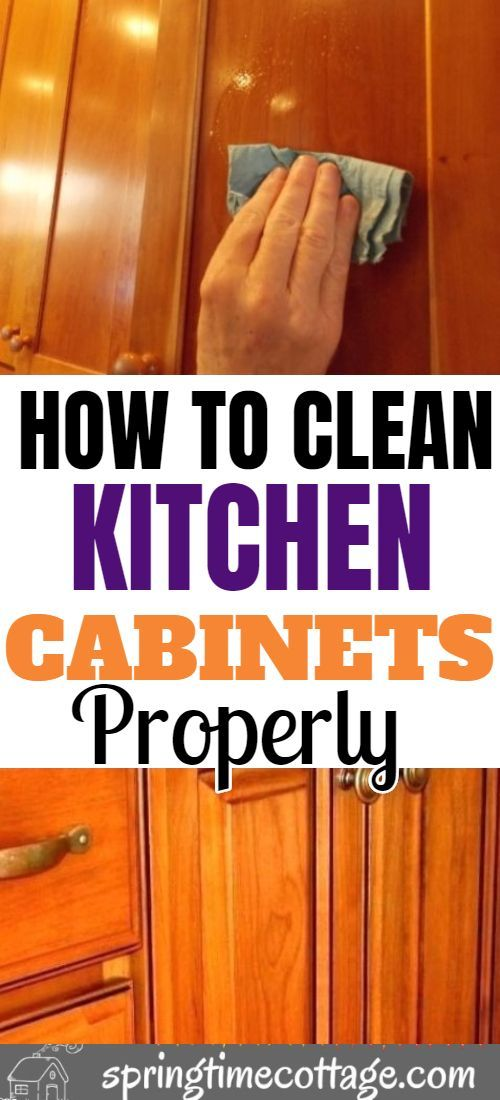 Clean Kitchen Cabinets, How To Best Clean Wood Cabinets