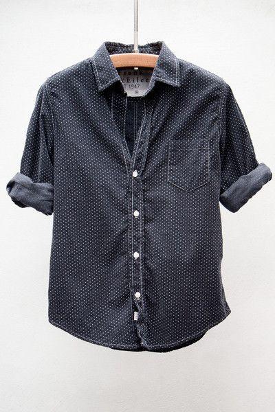 Polka Dot Corduroy Bary Shirt by Heist Frank   Eileen Pöttyös Ruha bd03ec51f9