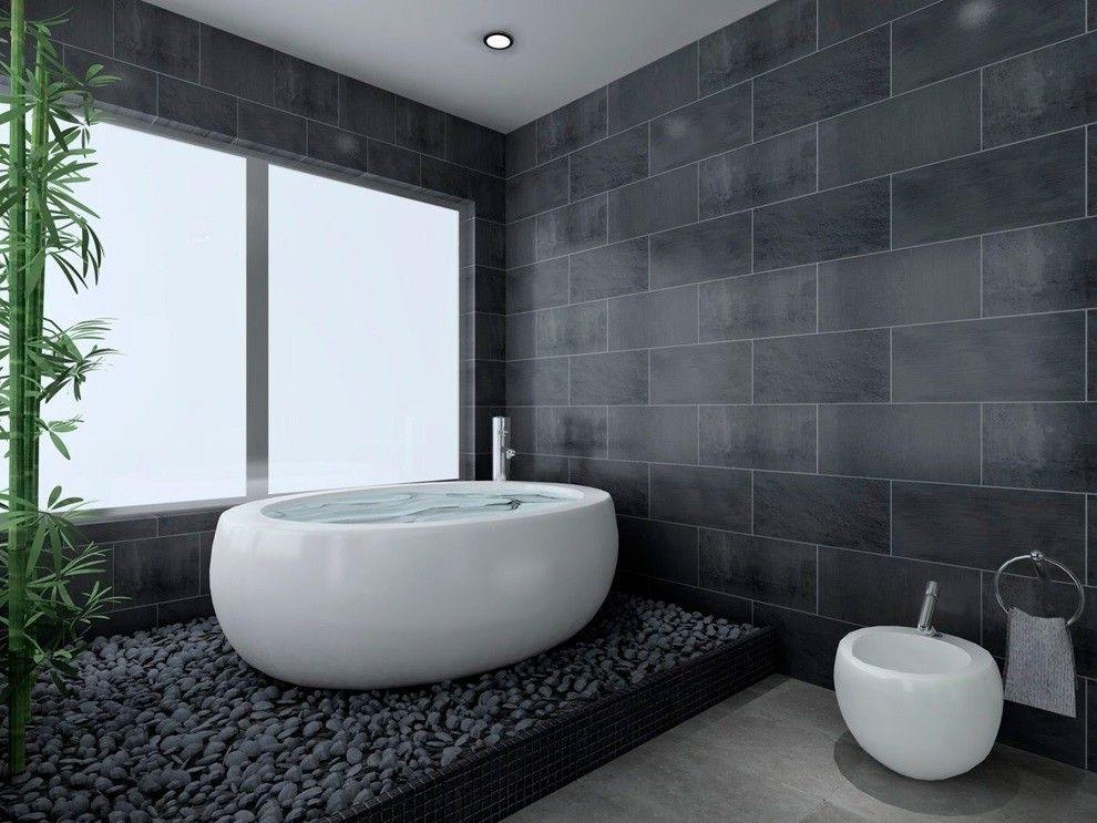 Cuarto de baño moderno blanco y negro - David Moreno. David Moreno ...