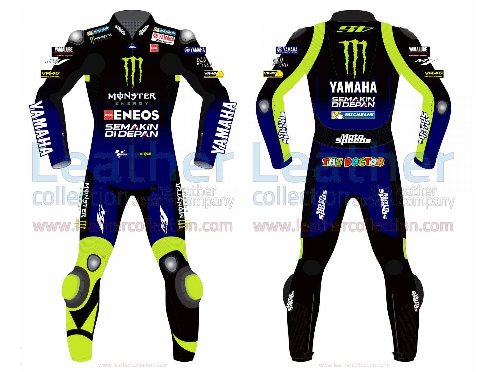 Costume Valentino Rossi 2018 mod/èle moto moto Racing en cuir