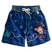 651fe47a5c94b Jake and the Never Land Pirates Swim Trunks for Boys   Kids Clothes ...
