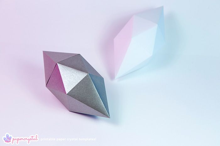 printable paper gems crystal templates your pinterest likes