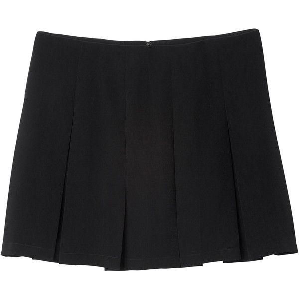 a783a14082 Monki Paula skirt (£7.73) ❤ liked on Polyvore featuring skirts, bottoms,  black magic, pleated skirt, monki and knee length pleated skirt