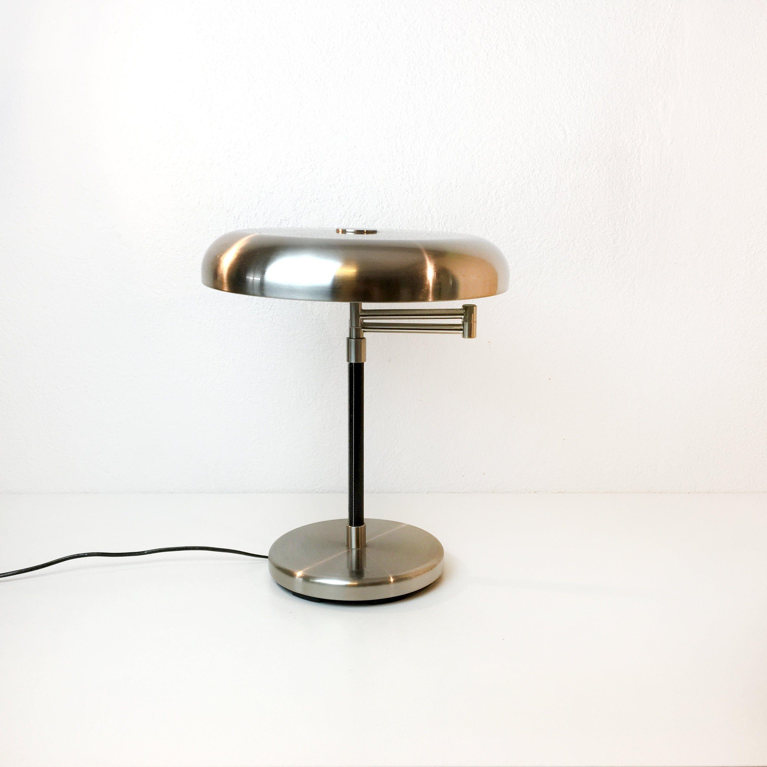 Vintage Ikea Tischlampe Schreibtischlampe Chrom Art Deco Etsy Desk Lamp Lamp Table Lamp