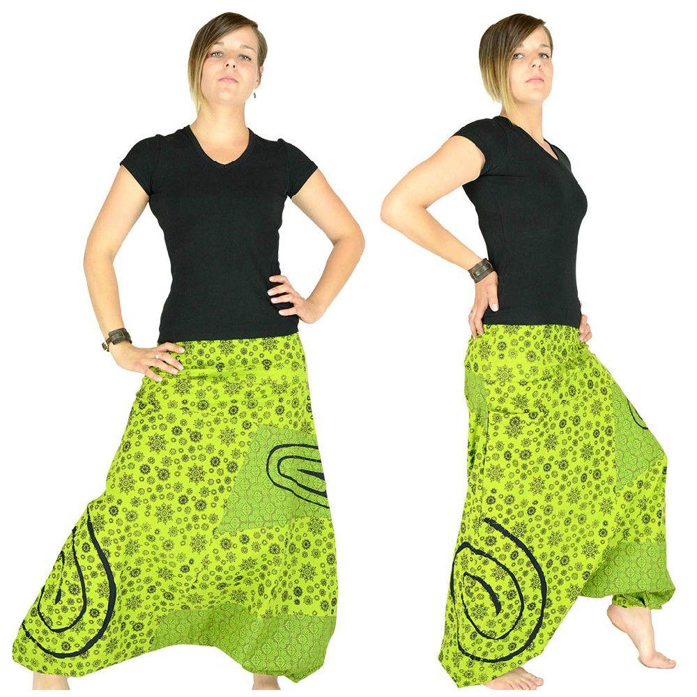 Vetements Hippie Baba Cool Sarouel Vert