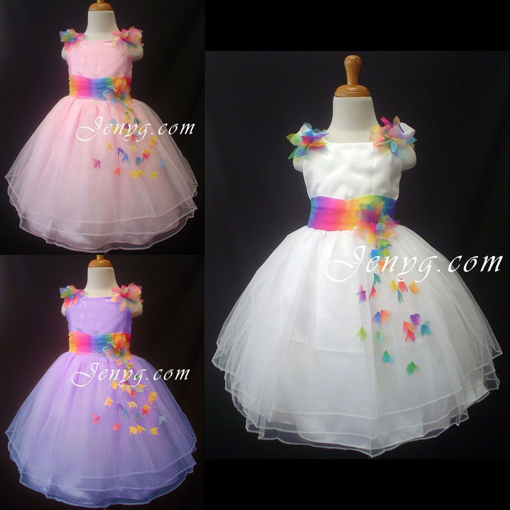RB61 Flower Girls Holiday Party Formal Dress 0 1 2 3 4 5 6 7 8 9 10 ...