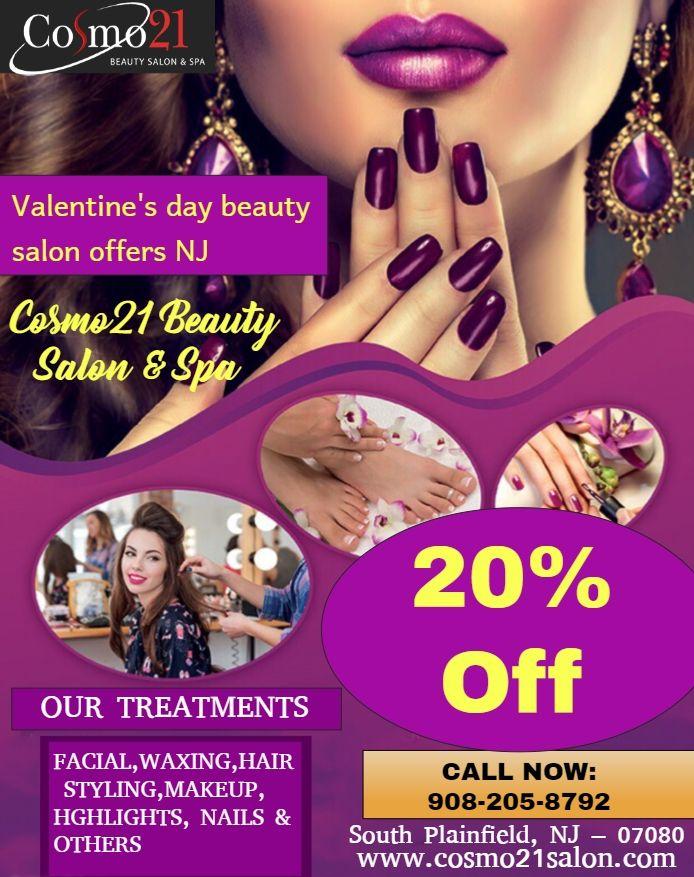 Valentine\'s Day #beauty #salon #offers NJ Visit Cosmo21 Beauty Salon ...