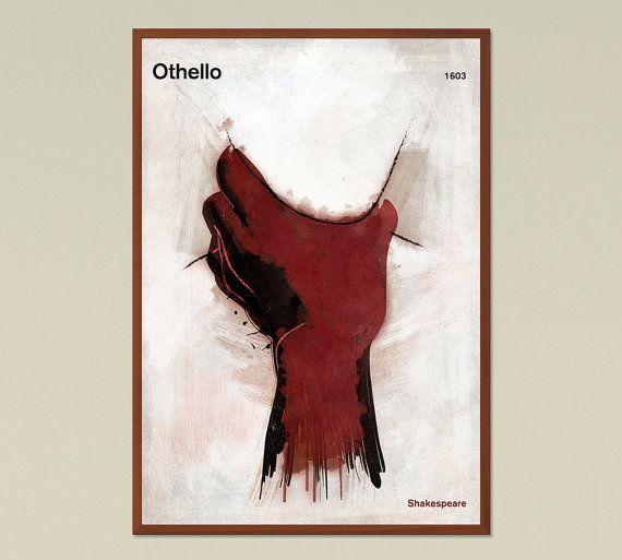 Othello Shakespeare  Large literary poster by RedHillPrintables