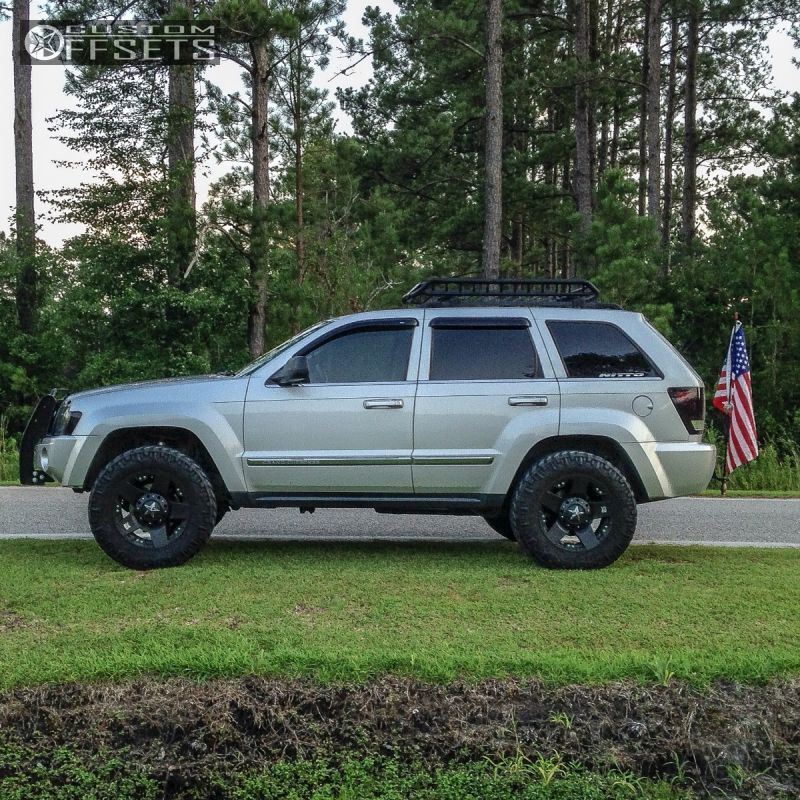 08 8 2005 Grand Cherokee Jeep Leveling Kit Xd Rockstar Black Aggressive 1 Outside Fender 2005 Jeep Grand Cherokee Jeep Wk Jeep Grand