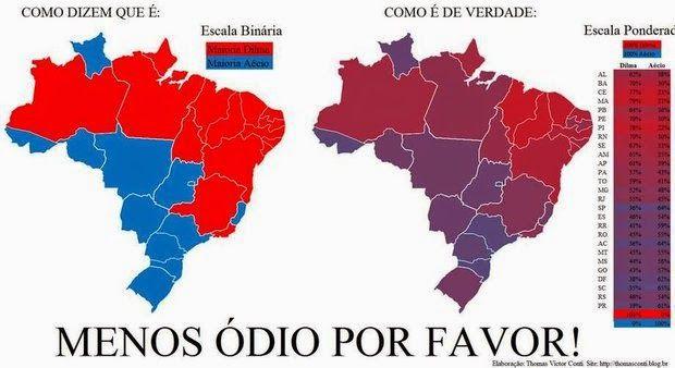 Taís Paranhos: Mapa revela mistura de votos e mostra pouca diferença entre Nordeste e Sudeste...