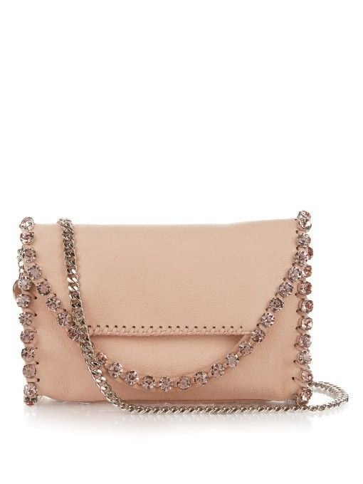 STELLA MCCARTNEY Falabella Embellished Cross-Body Bag.  stellamccartney   bags  shoulder bags  crystal  suede  lining 7b84dc8363