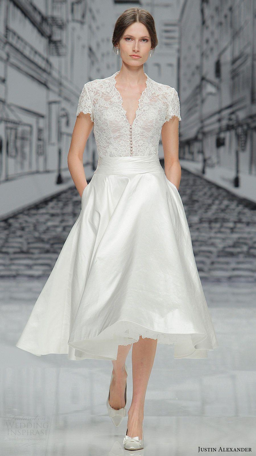 Justin Alexander Spring 2017 Collections Barcelona Bridal Week Runway Presentation Short Dressesshort