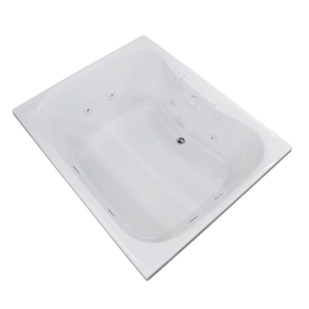 Universal Tubs Rhode 5 Ft Acrylic Drop In Right Drain Rectangular