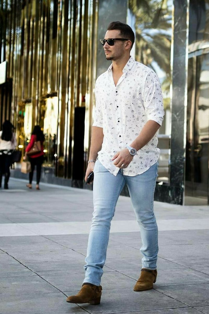 2a72b33c2 Casual Shirt Outfits For Men in 2019