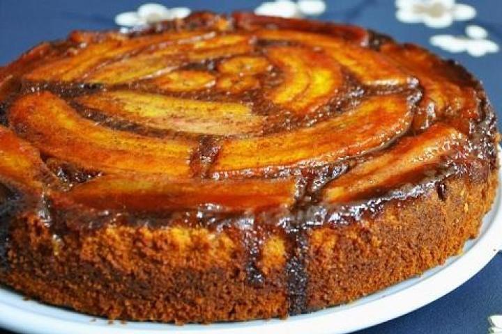 Banana Upside Down Cake Recipe Cake Recipes Banana Upside