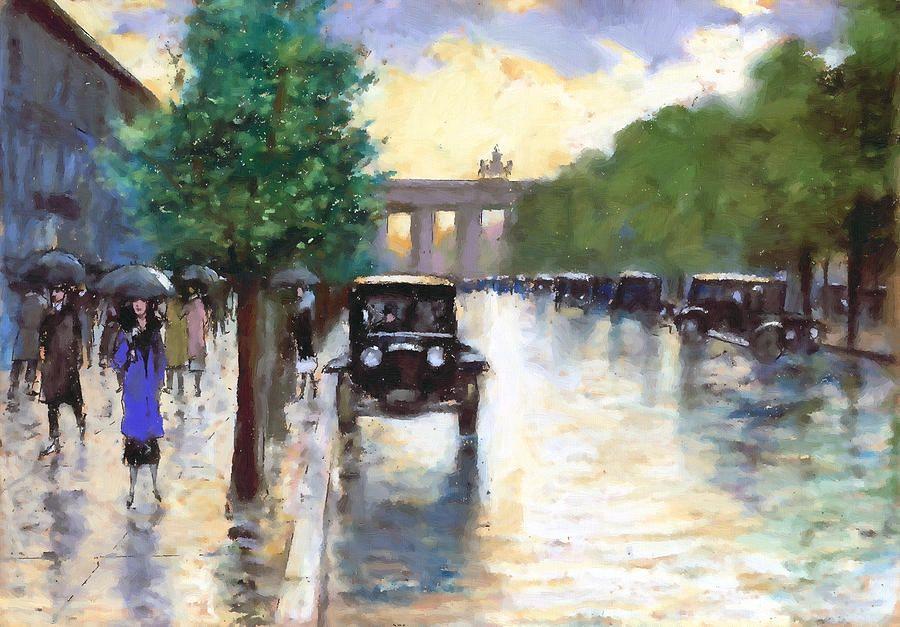 Regen In Berlin Art Fine Art Fine Art America