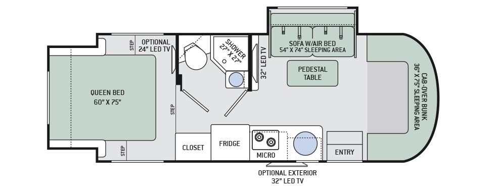 Floor Plans Siesta Sprinter Motorhomes Class C Rv By Thor