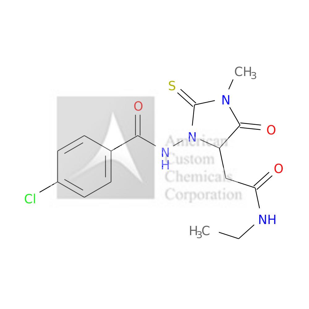4-CHLORO-N-[5-[2-(ETHYLAMINO)-2-OXOETHYL]-3-METHYL-4-OXO-2-SULFANYLIDENEIMIDAZOLIDIN-1-YL]BENZAMIDE is now  available at ACC Corporation