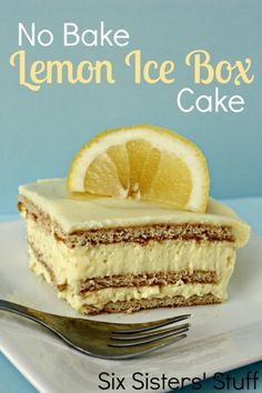 No Bake Lemon Icebox Cake