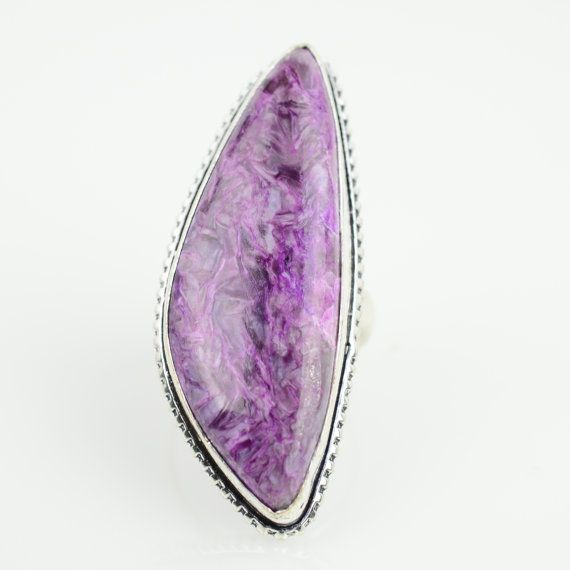 Hey, I found this really awesome Etsy listing at https://www.etsy.com/listing/244908009/charoite-ring-sz-6-healing-stone-ring