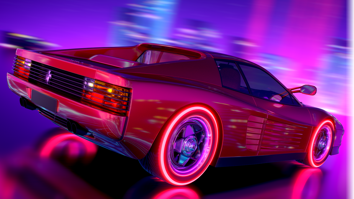 Page Not Found Newretrowave Stay Retro Live The 80 S Dream Ferrari Testarossa Retro Artwork Neon