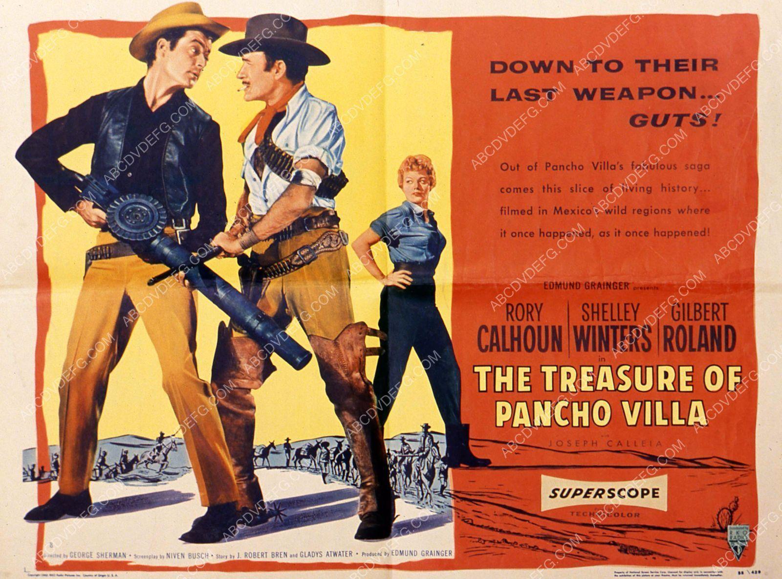 Rory Calhoun Gilbert Roland film The Treasure of Pancho Villa 35m-3647