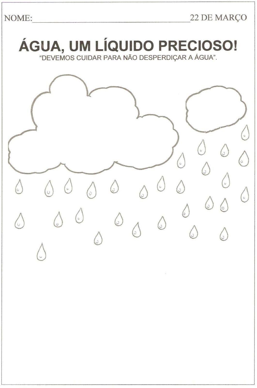 Atividade Para O Dia Da Agua Com Imagens Desenho Sobre A Agua
