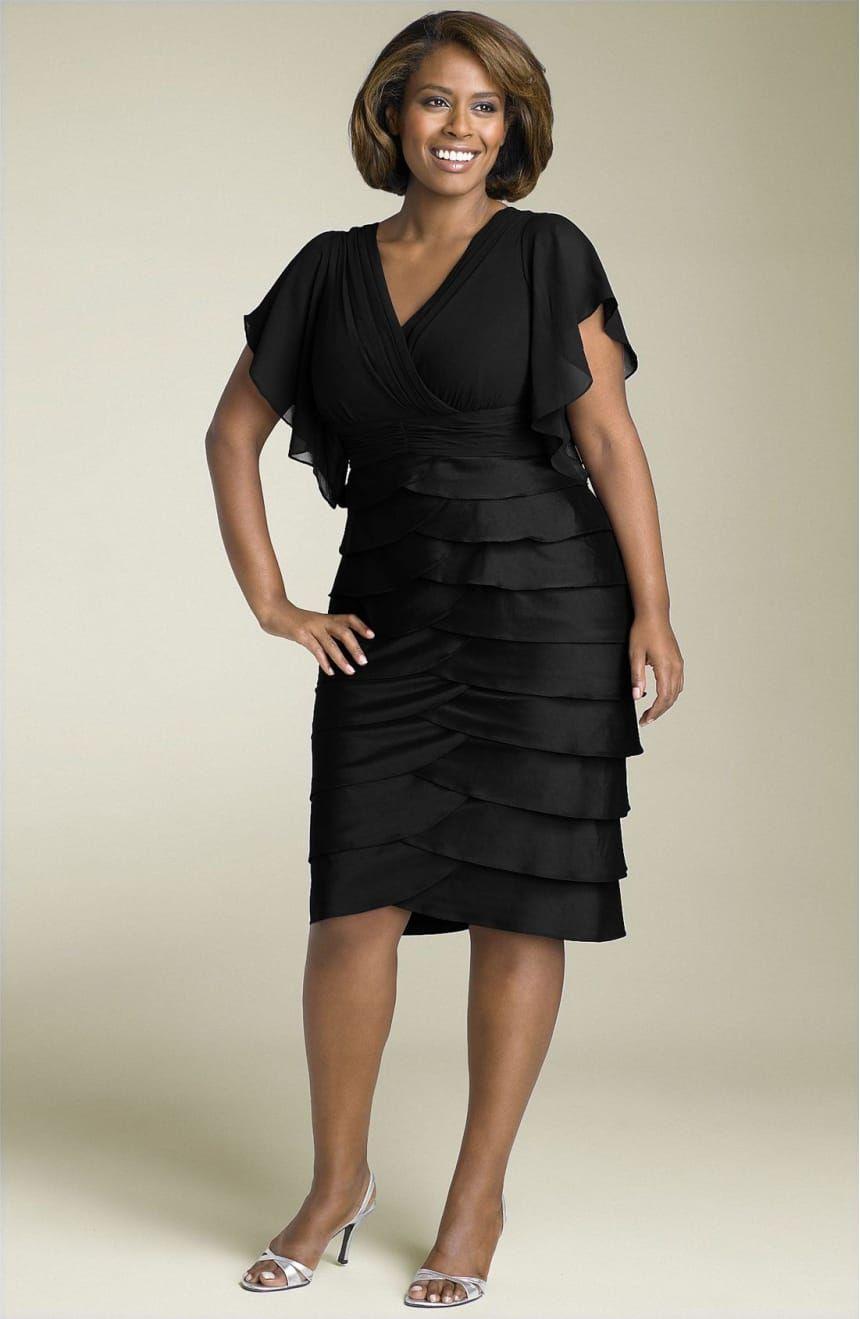 Adrianna papell flutter sleeve tiered dress plus