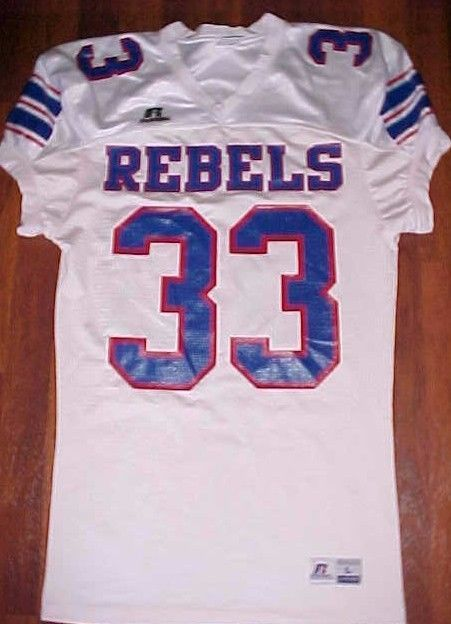 timeless design e29f5 31291 Russell Athletic NCAA SEC Ole Miss Rebels 33 White Blue Red ...