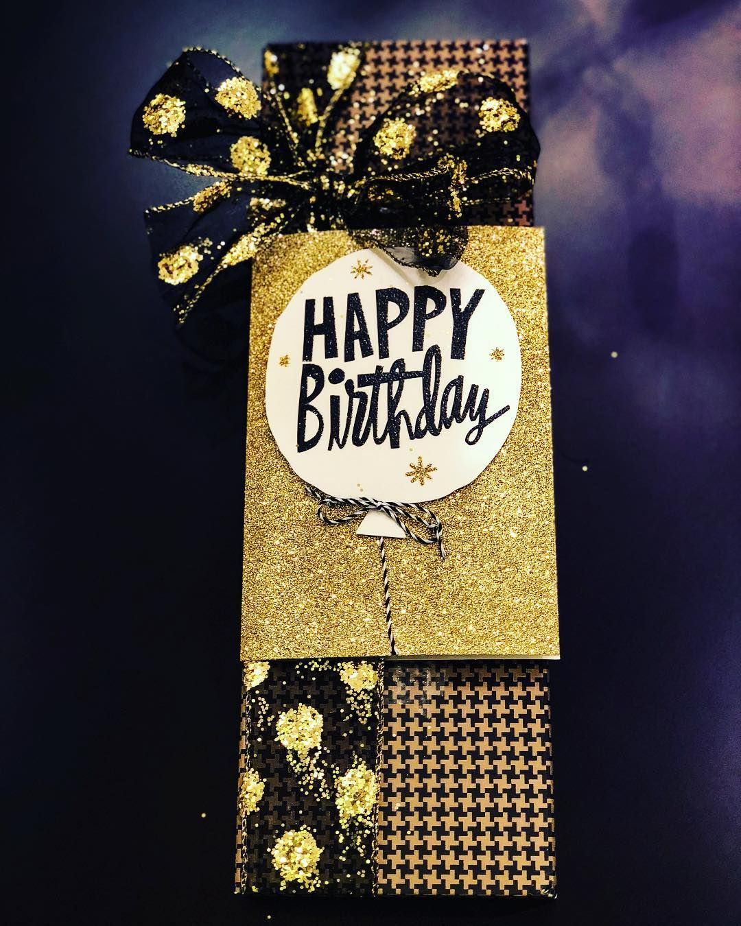 50th Birthday Gift Wrapping 50 Shades Of Gold 50thbirthday Goldenbirthday Classywrapping Harryrosen Creative