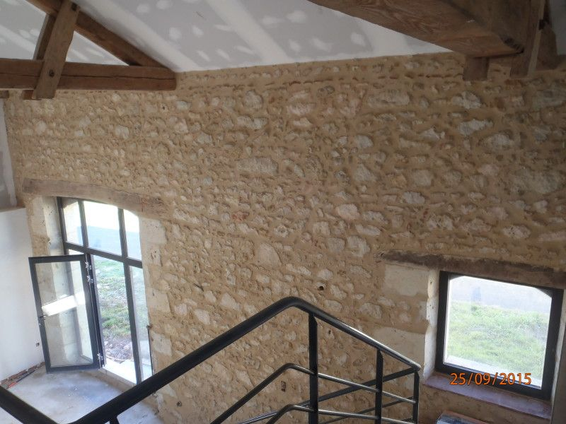 jointoiement de mur en pierre intrieur la chaux