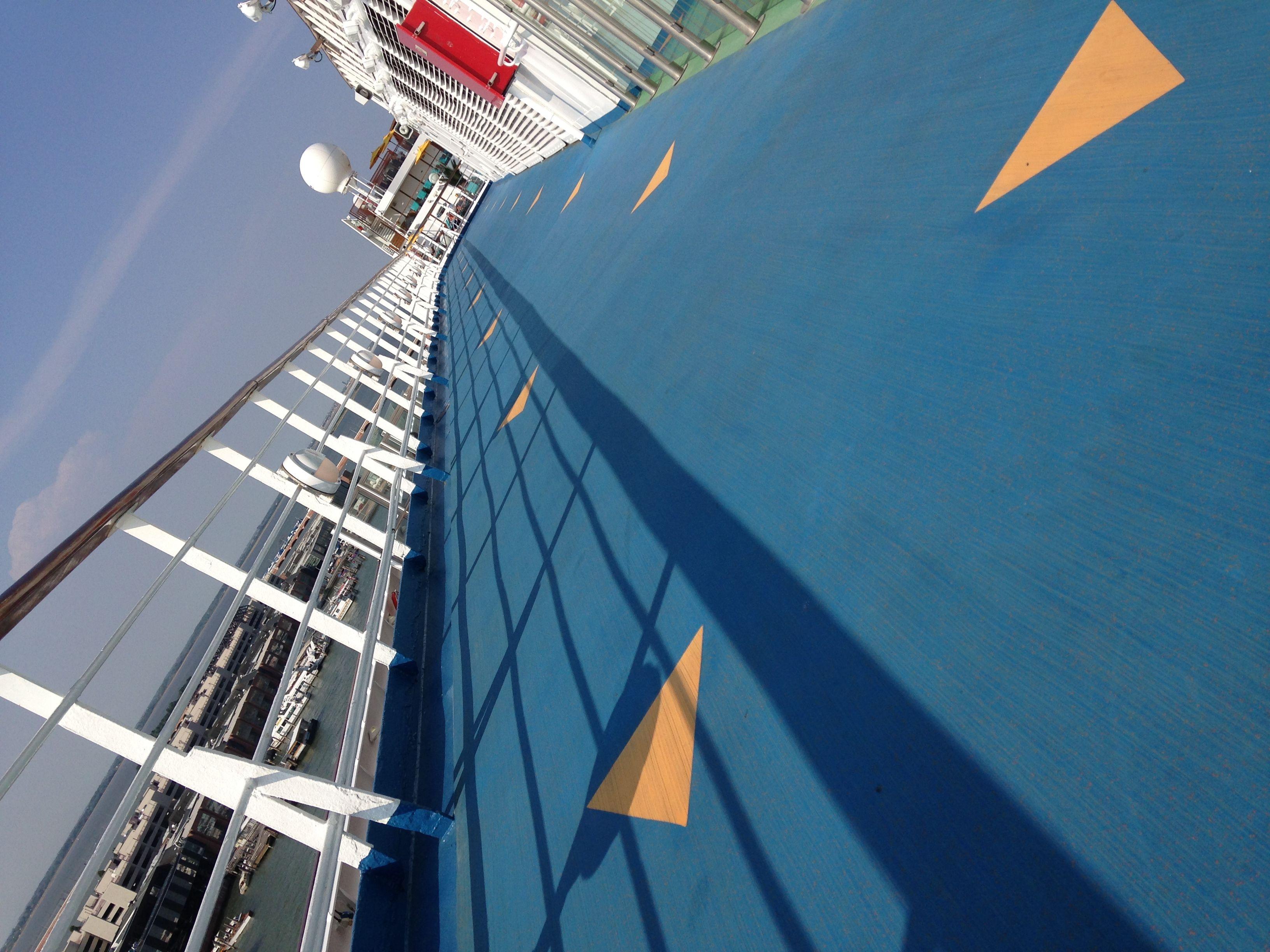 Get you morning run on aboard Carnival Sunshine in SportsSquare. #cclsunshine #exercise