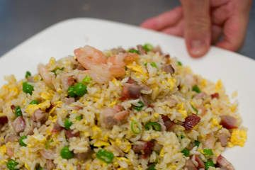 Red emperor fried rice foodie pinterest fried rice rice and chef hon kau hui shows fried rice preparation at red emperor southbank forumfinder Image collections