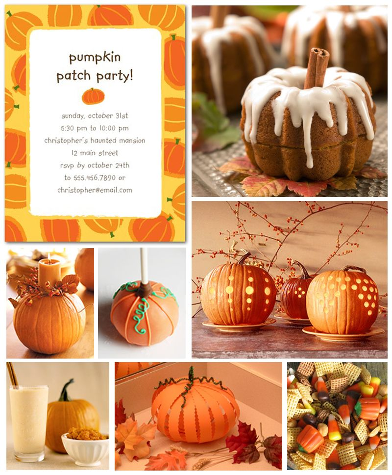 Pumpkin Patch Party Invitation Treats And Decorations Fall Ideas