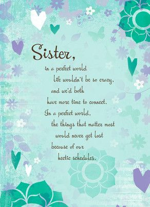 Sister Hearts Mothers Day Sisters Sisters By Heart Sister Quotes
