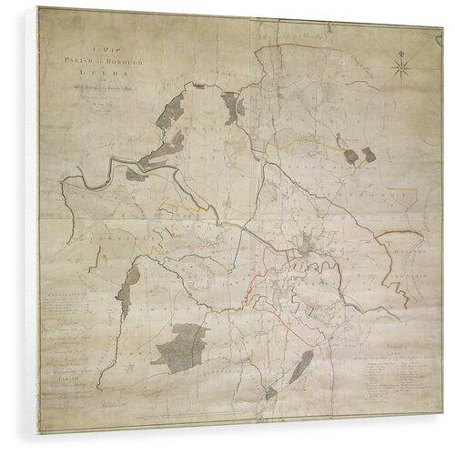 Photo of East Urban Home Wandbild Karte von Leeds, aufgenommen von John Tuke, 1781   Wayfair.de
