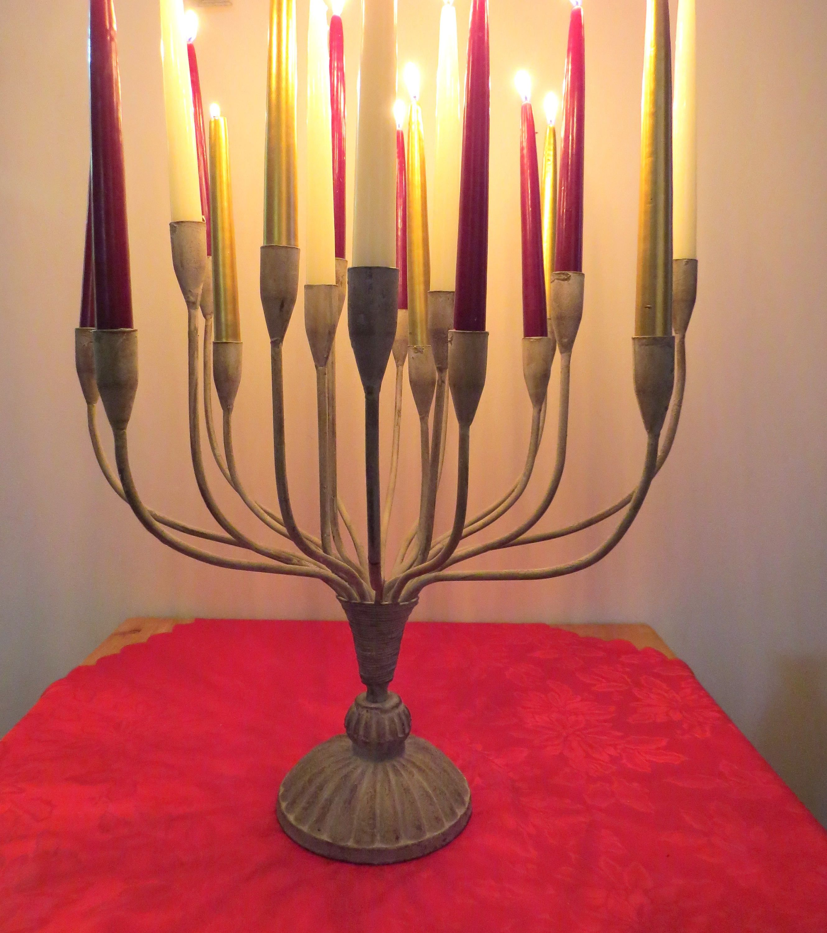 Large Candelabra 20 Arm Candle Holder Church Candelabra Etsy Candles Metal Candelabra Candle Holders