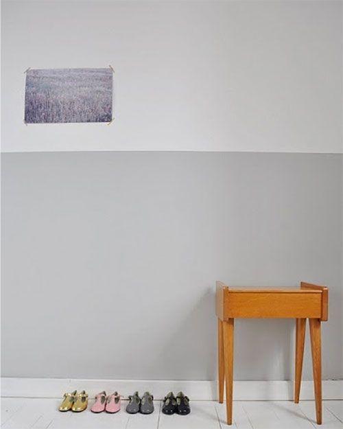 halve muur schilderen in de woonkamer inspiratie huis