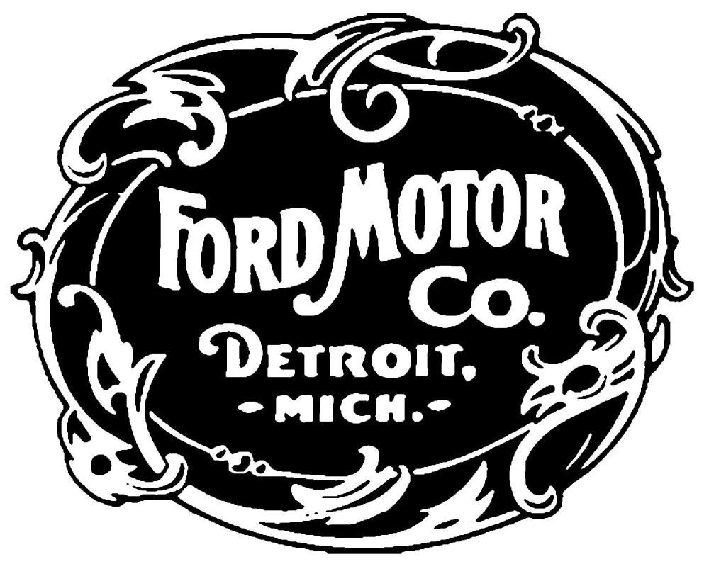 Rearview Mirror 1903 Ford Logo